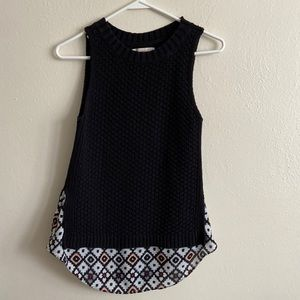 Loft Black Knitted Sleeveless Sweater